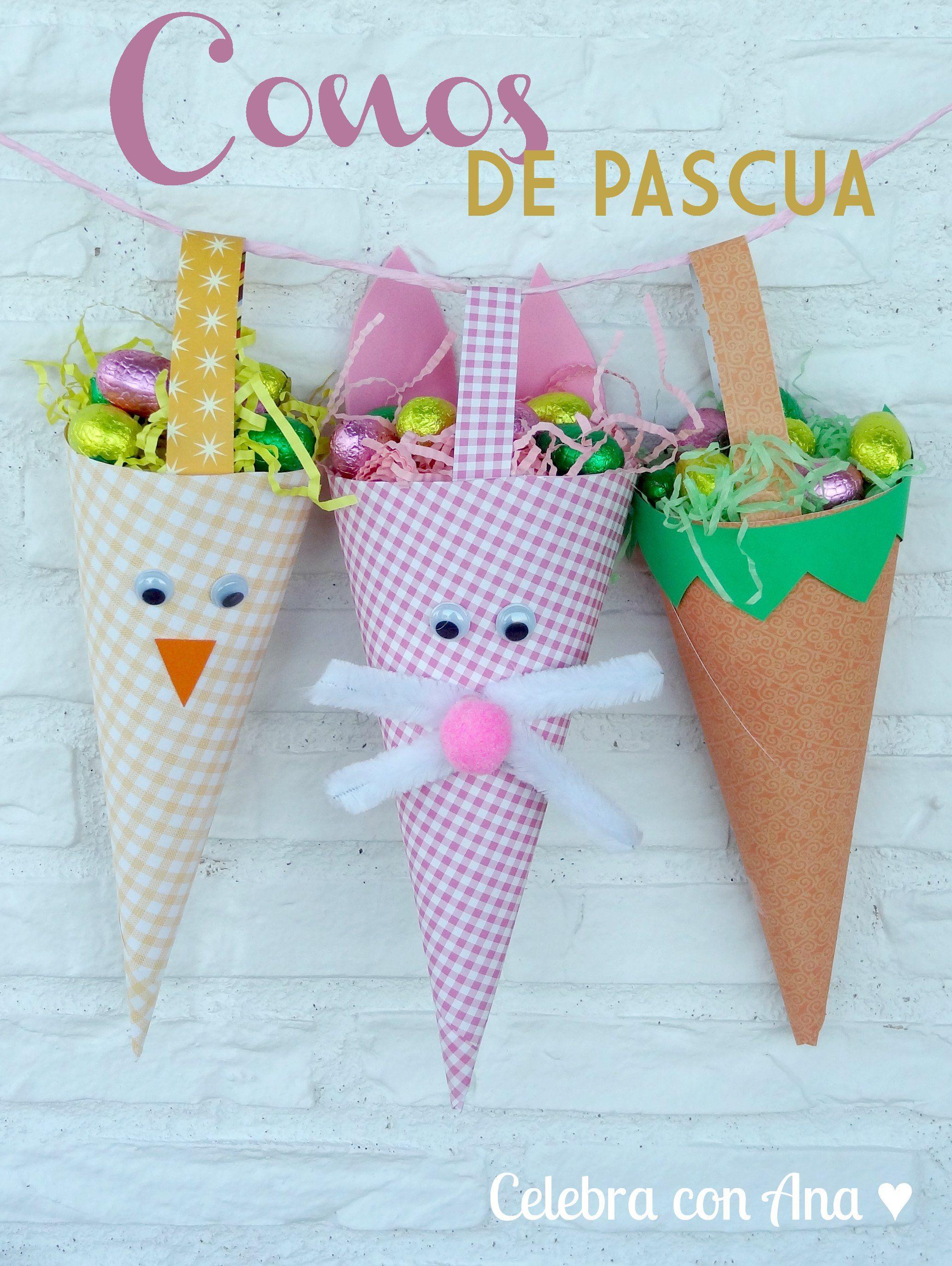 5bab26acf Conos de Pascua | Pascua (Easter) | Pascua, Manualidades de pascua y ...
