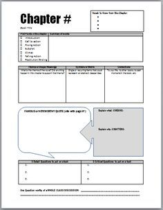 chapter study guides student led notes discussion for any novel rh pinterest com A Book for Novel Study A Book for Novel Study