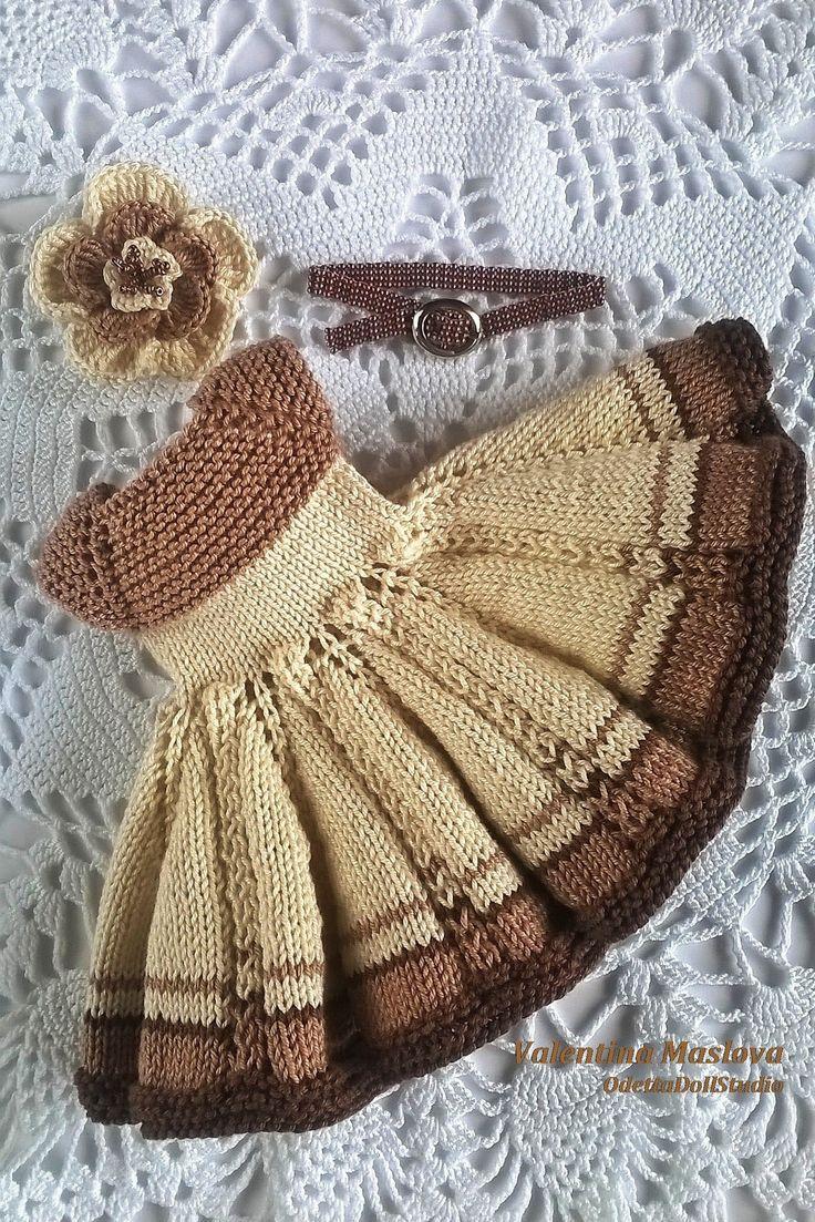 Outfit for Paola Reina doll 32_34 cm #vestidosparabebédeganchillo