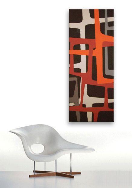Mitte Century Modern Art Malerei Eames Ära Von Jetsetretrodesign