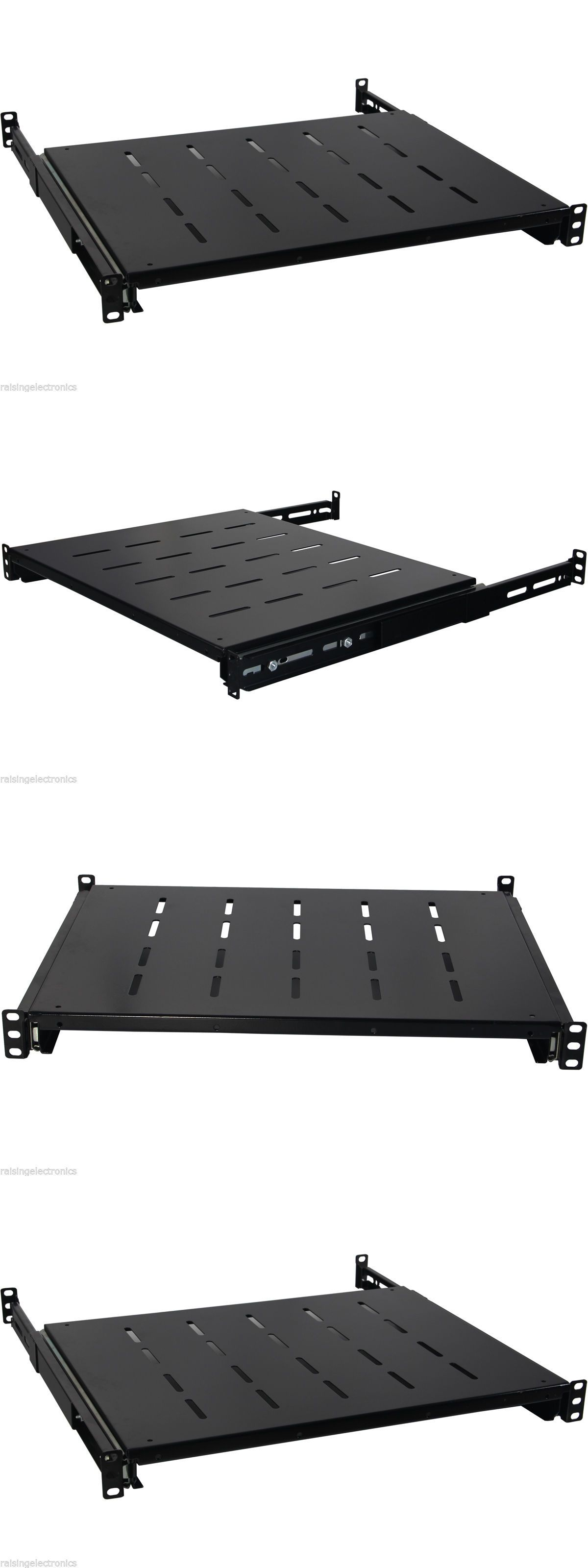 6u Wall Mount Open Frame 19 Server Equipment Rack Threaded 16 Inch Depth Black Open Frame Wall Mount Rack Frame
