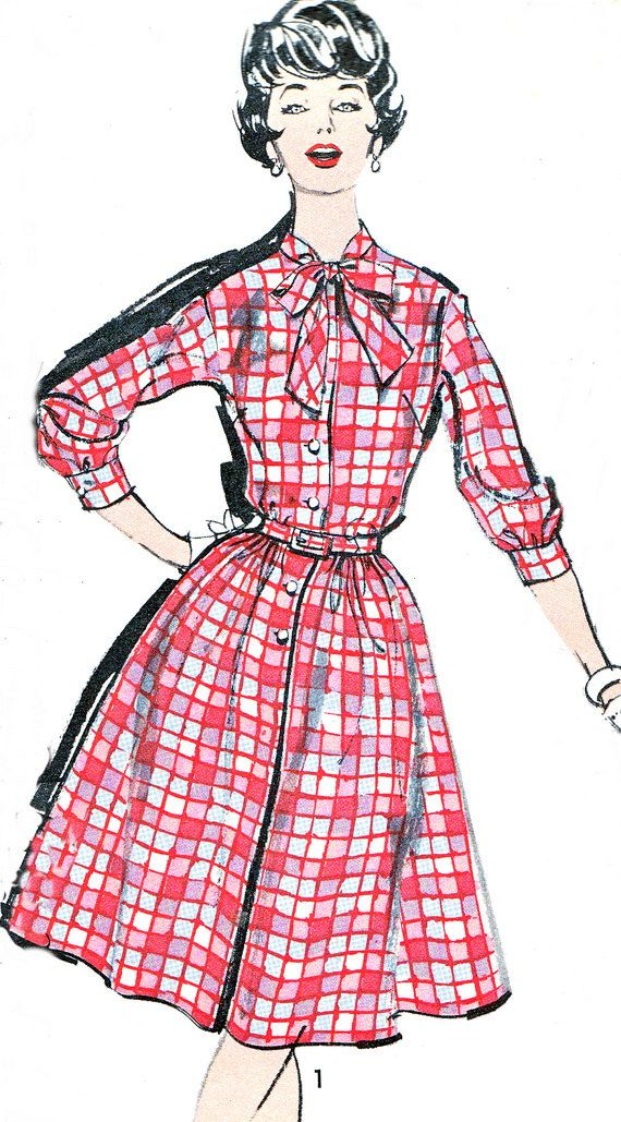 1960s Dress Pattern Advance 2829 Rockabilly Bow by paneenjerez, $16.00
