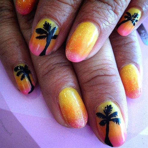 Hawaiian nail❤ by azusa - Nail Art Gallery nailartgallery.nailsmag.com by  Nails - Hawaiian Nail❤ By Azusa - Nail Art Gallery Nailartgallery