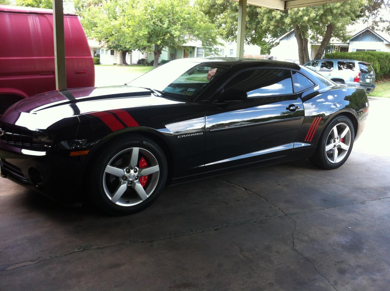 Camaro black and red chevy camaro : Added Hash stripes. Red on Black - Camaro5 Chevy Camaro Forum ...