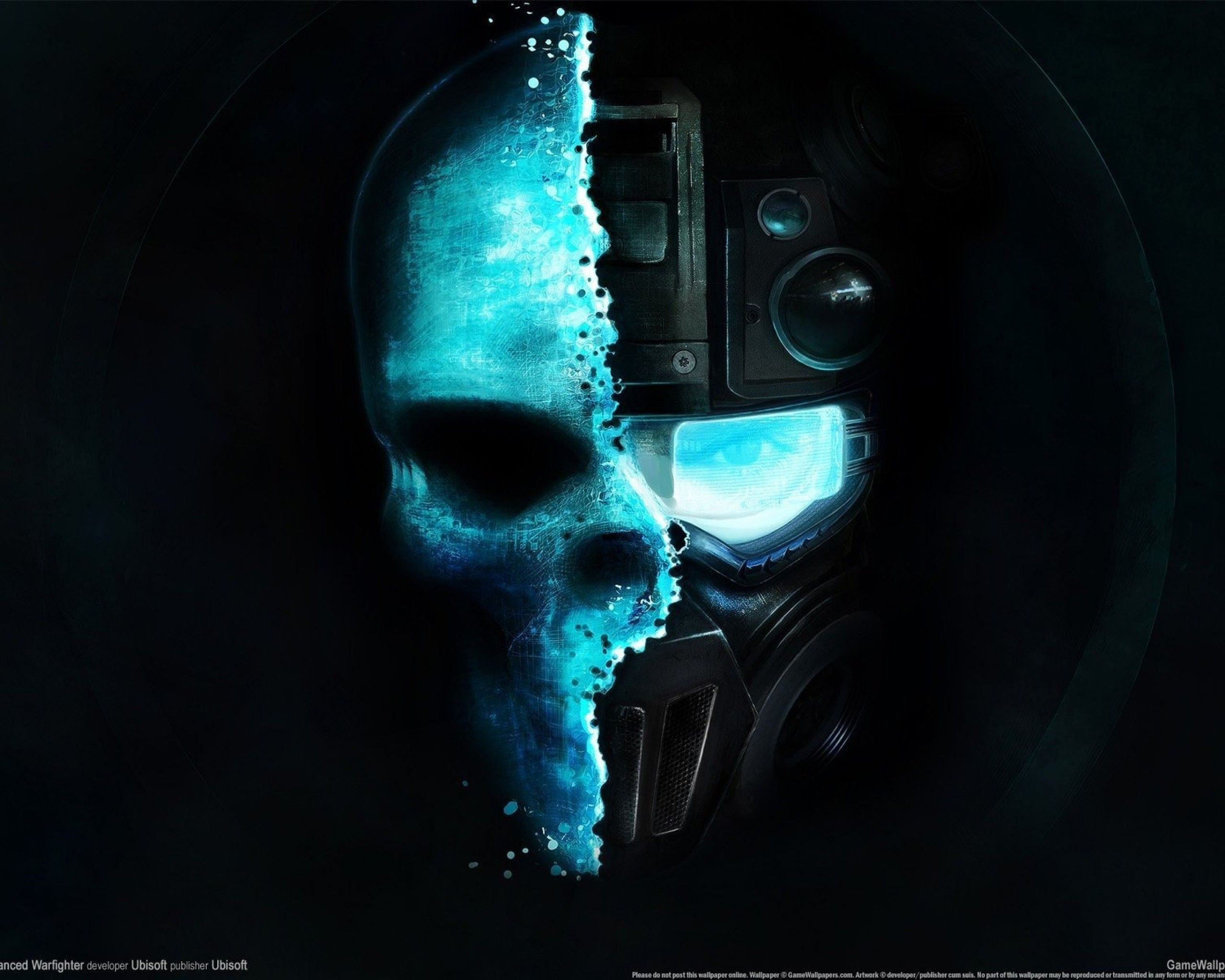 Call Of Duty Ghosts Mask Design Papel De Parede Caveira Papel