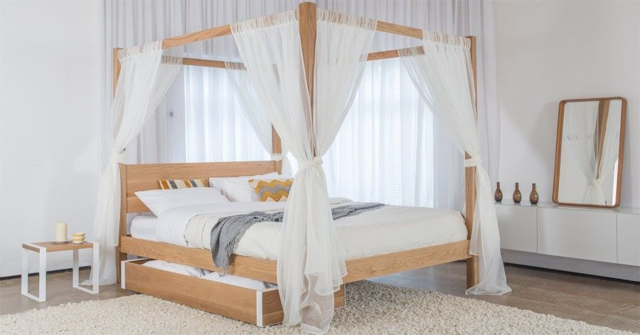 Four Poster Bed Classic Wooden Bed Frames Four Poster Bed