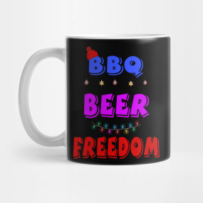 Bbq Beer Freedom America Christmas Bbq Beer Freedom America T Shirt Teepublic Bbq America Tshirt Beer