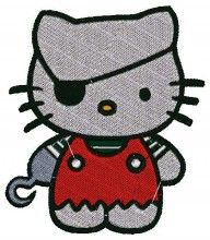 Hook Kitty - Machine Embroidery Designs