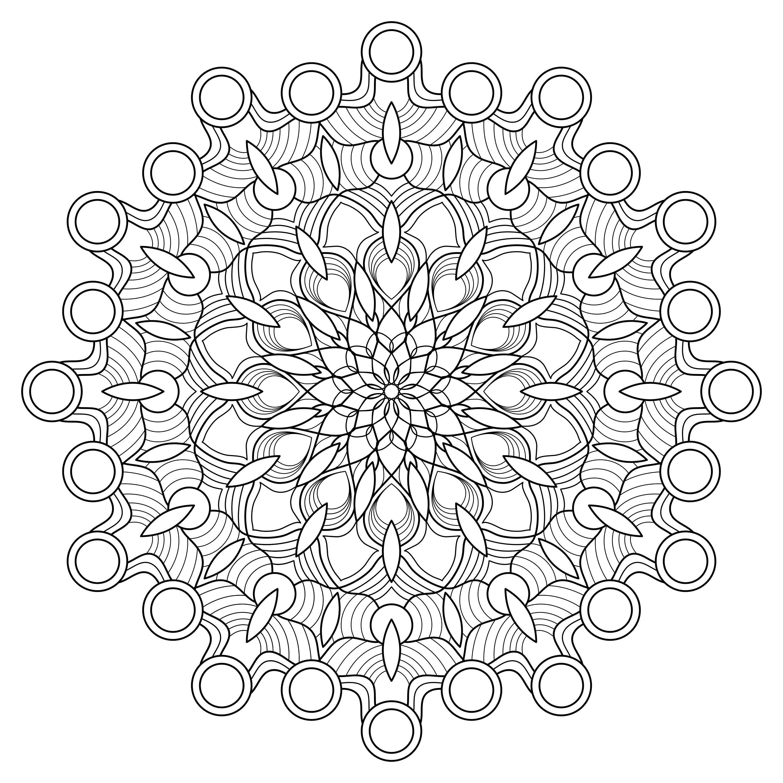 Circle Mandala Single Mandala Coloring Pages Digital Etsy Mandala Coloring Pages Mandala Coloring Coloring Pages