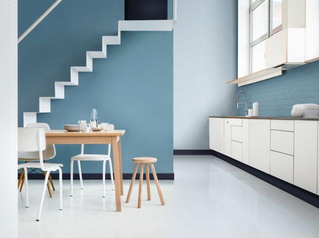 Cuisine bleu gris dulux valentine 2 | salon | Pinterest | Salons and ...