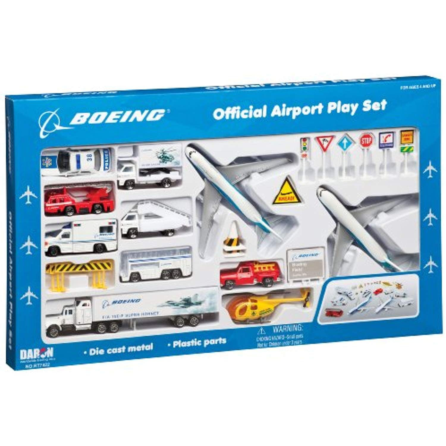 Daron Boeing Aircraft Playset 24Piece >>> Learn more by