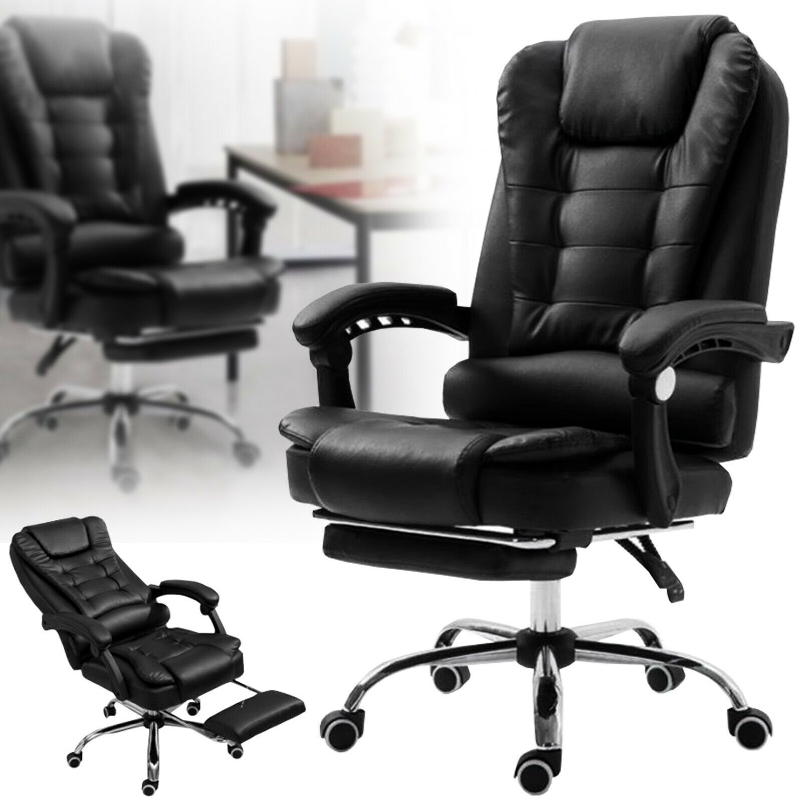 Executive Racing Gaming Chair Computer Office Leather