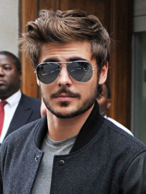 best mens haircuts 2013 with beards | Do not thing pushing your hair back is not trendy anymore. It is a ...
