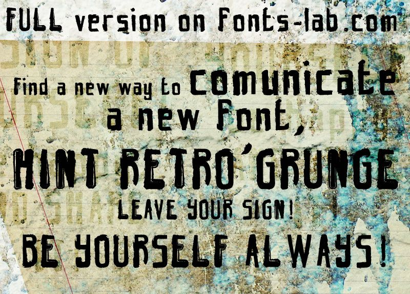 Hint Retro Grunge Font | dafont.com