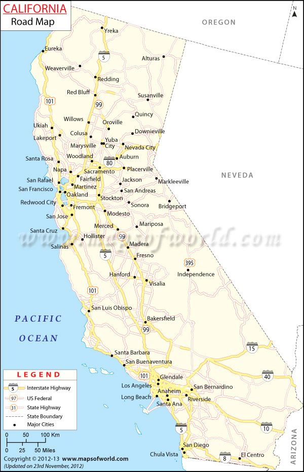 New California Road map Useful tool if you re planning a