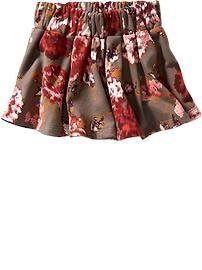 Printed Fleece Circle Skirt for Baby