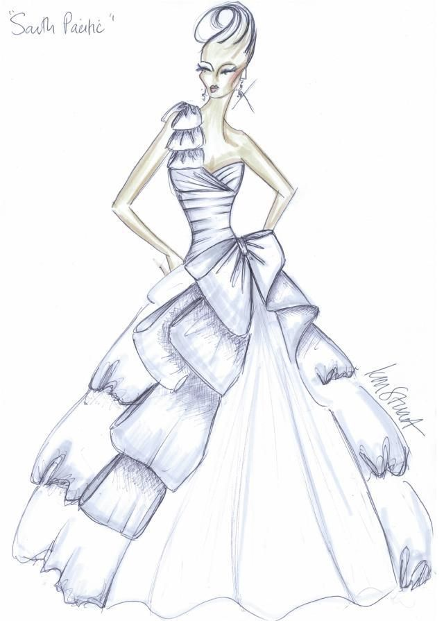 Share for How to draw a wedding dress