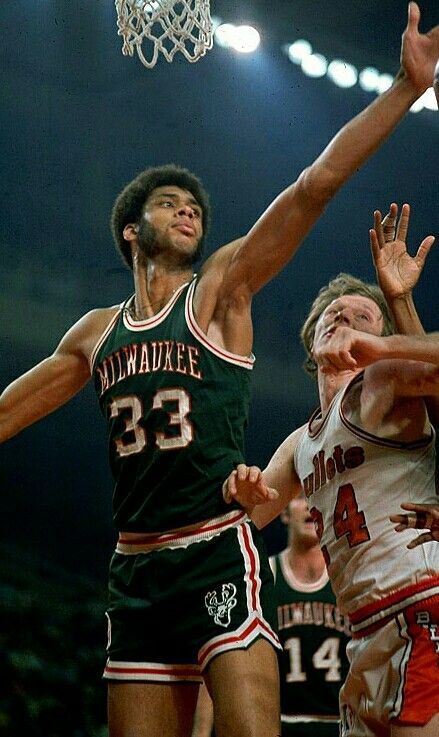watch fe823 48dbd lew alcindor milwaukee bucks jersey