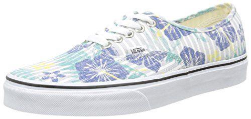 Authentic, Unisex-Erwachsene Sneakers, Mehrfarbig (Hula Stripes/True White), 38 EU Vans