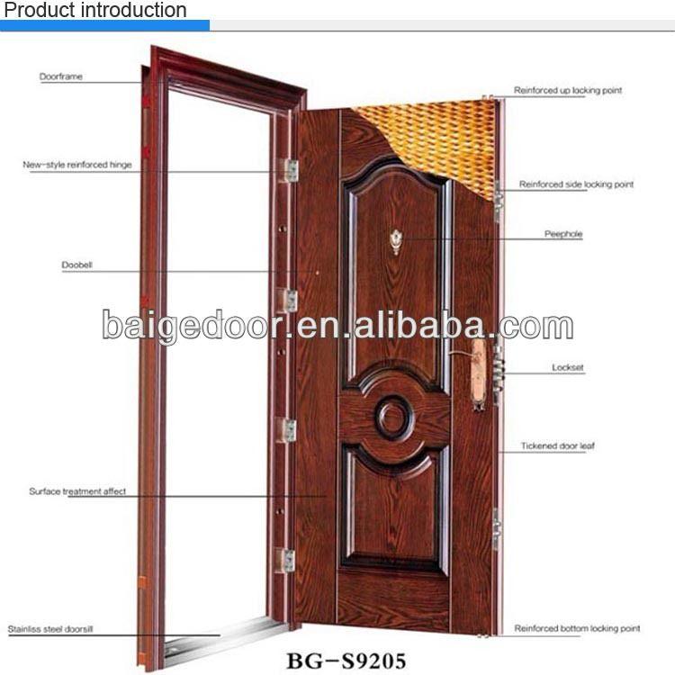 BG S9001 Nigeria Door Steel Door /iron Exterior Door Price