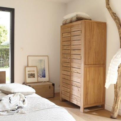 Armoire Double En Teck 180 Minimalys Bedroom Cupboards Tall