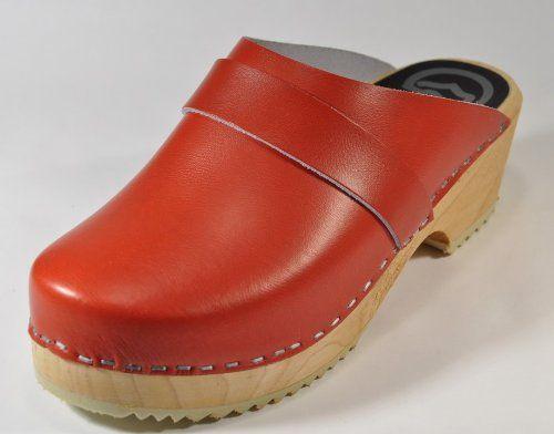 e2ee0642 Toffeln - Zuecos de cuero para mujer Rojo rojo 36 | suecos ...