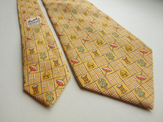 Tie HERMES Paris Made in France 7618 TA 100% by SillyPurpleZephyre