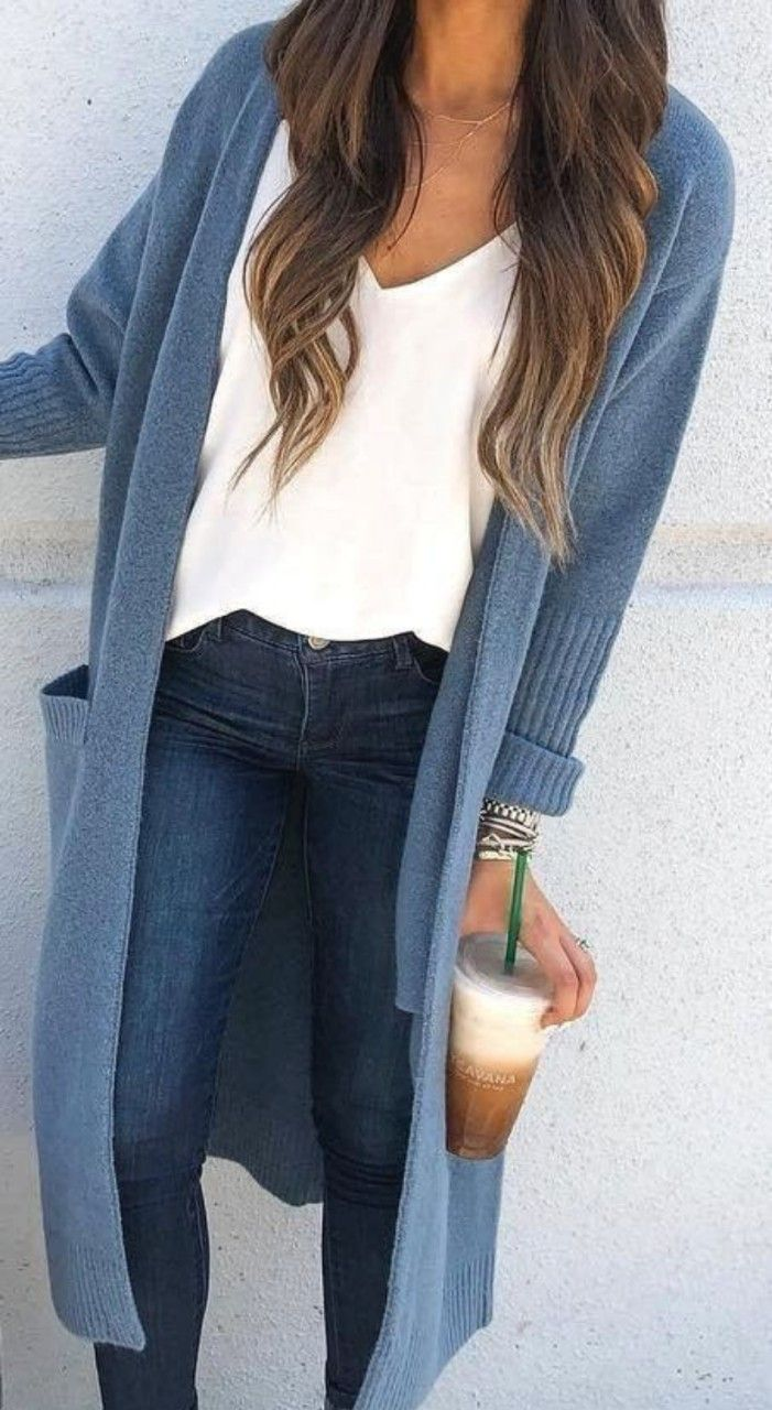 Long cardigan women outfits for this fall 1