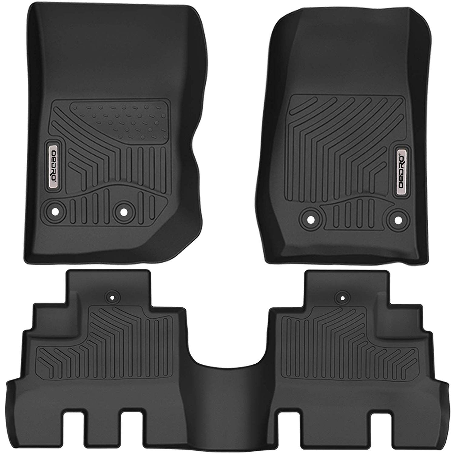 Oedro Floor Mats Compatible For 2014 2018 Jeep Wrangler Jk Unlimited 4 Door Not For 2 Door And Jl Models Black T Jeep Wrangler Jk Floor Liners Jeep Wrangler