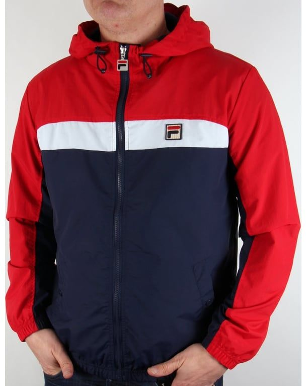 Fila Vintage Clipper Jacket Navy/white/red,hooded,coat ...