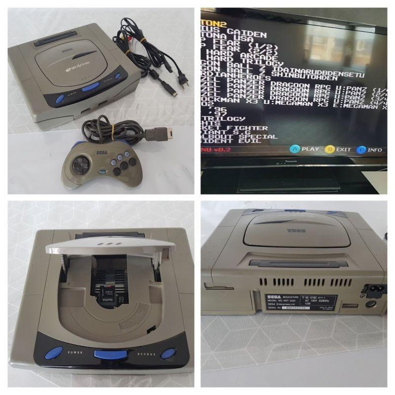 Sega Saturn RHEA/PHOEBE MOD SD CARD 64GB #retrogaming #HotSS From