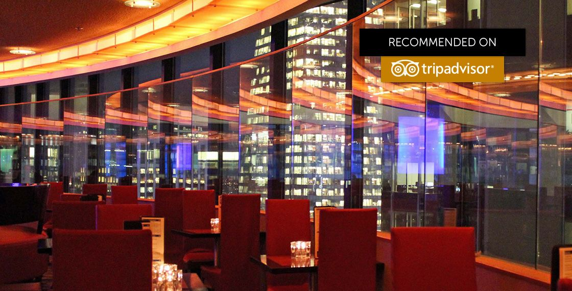 The View Restaurant Lounge In Nyc New York S Only Rooftop Revolving Homemade Pasta Sauces International Cheese Montage And Decadent Dessert