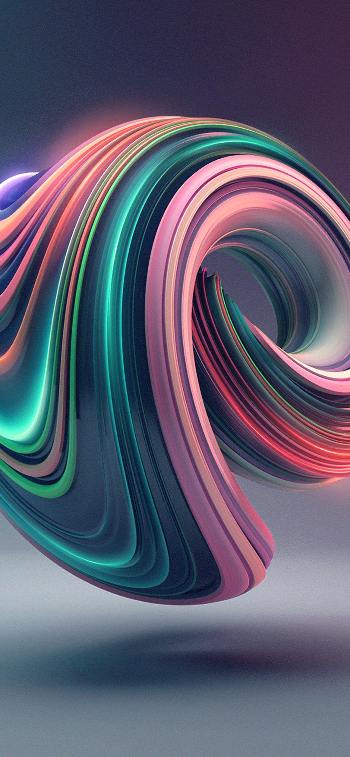Iphonex Wallpaper Bb02 Digital Art Color Circle Illustration Art