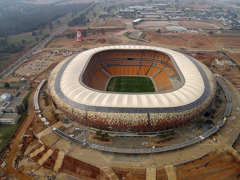 El Estadio Soccer City de Johannesburgo (Sudáfrica). Tiene