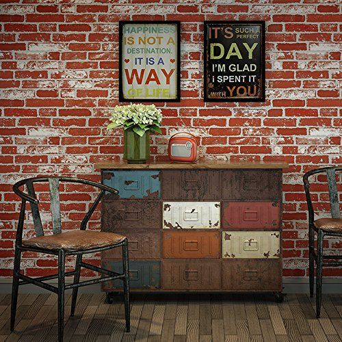 Robot Check Faux Brick Wallpaper Exposed Brick Wallpaper Brick Wall Wallpaper