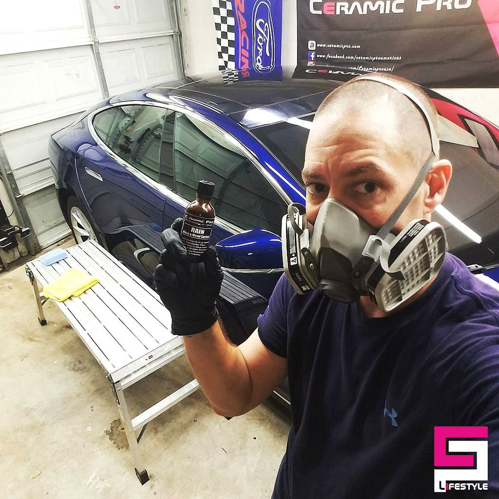 Tesla is ready to be protected with Ceramic Pro. Photo by