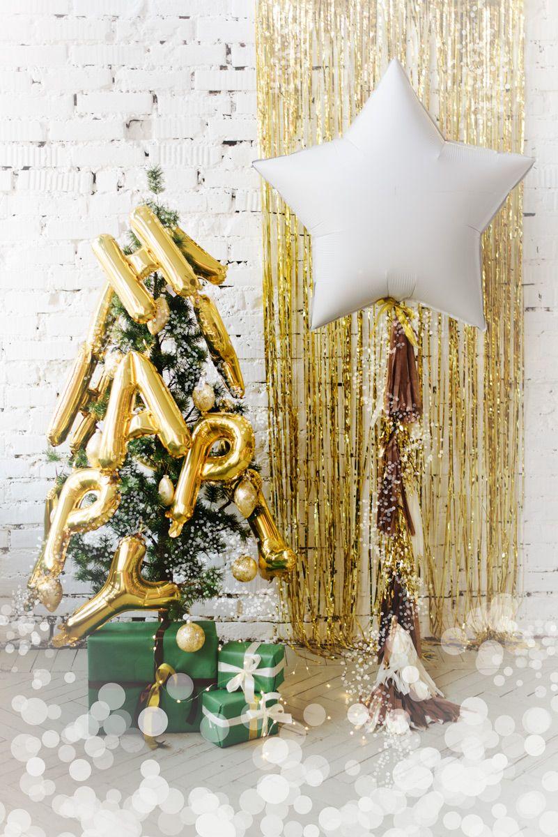 Цифры золото шары | Большой воздушный шар звезда с хвостом ...