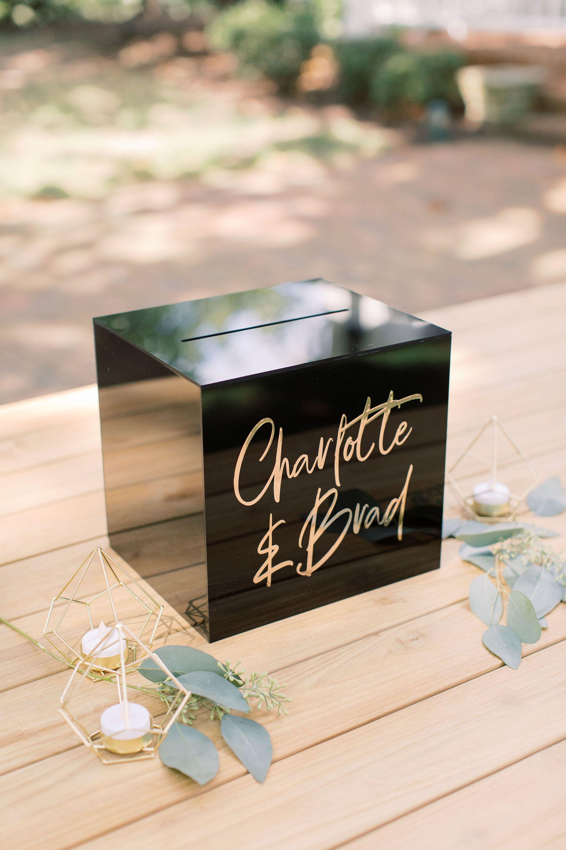 lock  key black acrylic card box i acrylic card box i