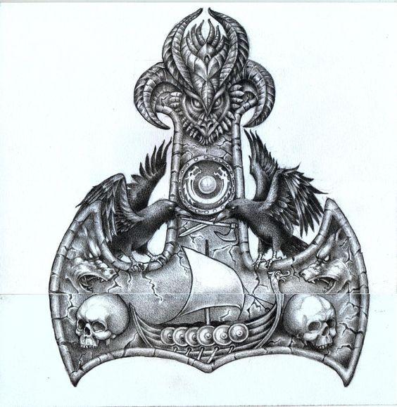thors hammer back piece art stuff pinterest wikinger wikinger tattoo und nordische mythologie. Black Bedroom Furniture Sets. Home Design Ideas