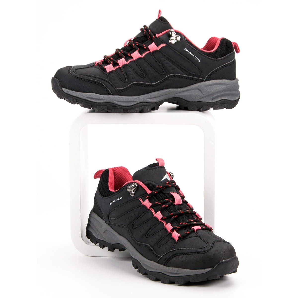 Damskie Buty Trekkingowe Czarne Shoes Sneakers Fashion