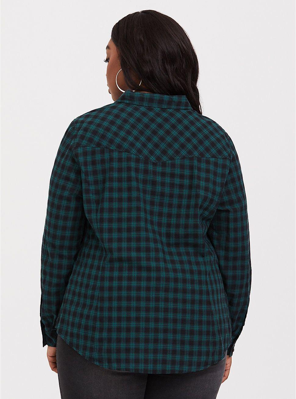 798f66e9d5520 Taylor - Green and Black Plaid Twill Camp Shirt
