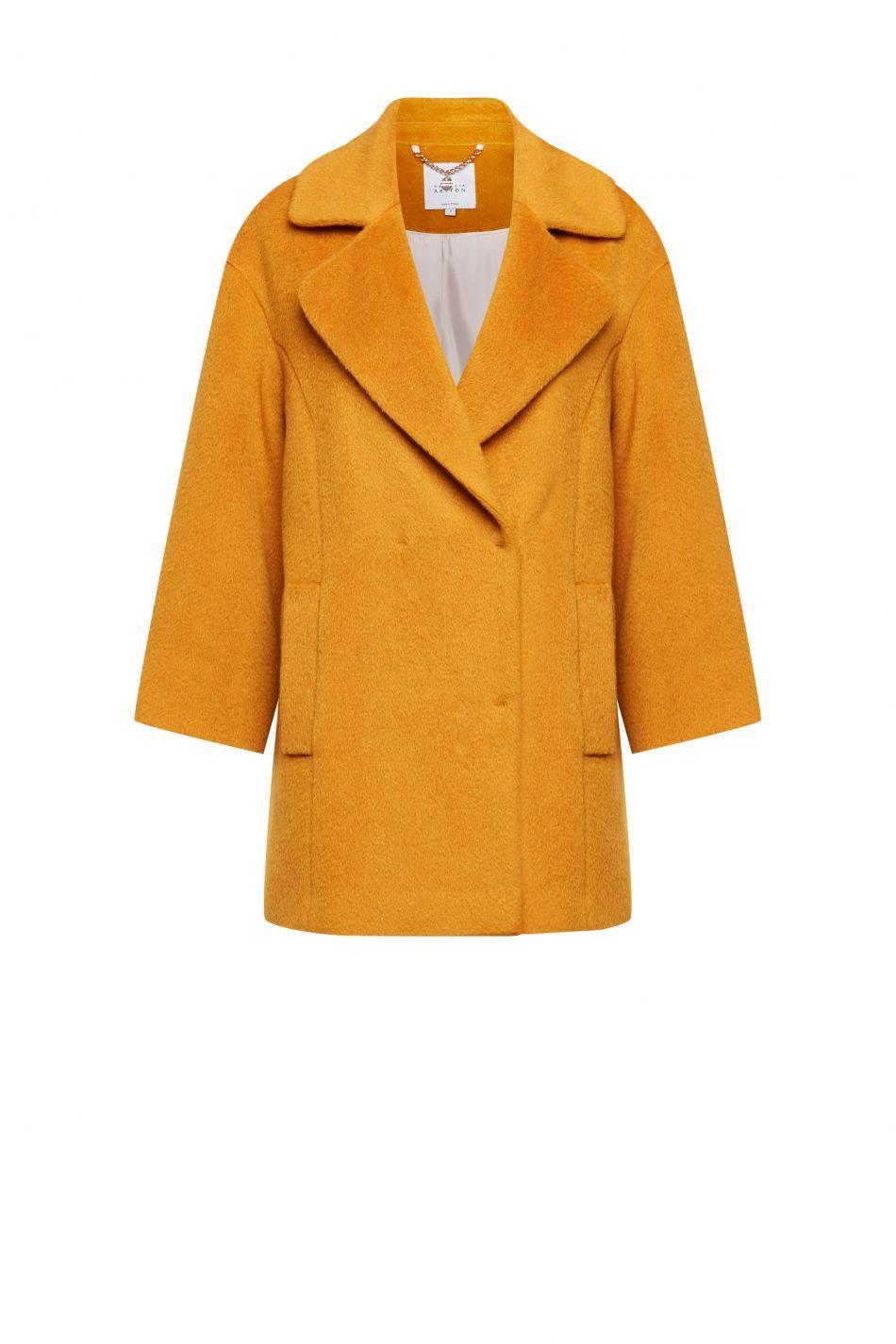 Krotki Plaszcz W Zoltym Kolorze Fashion Women S Blazer Jackets