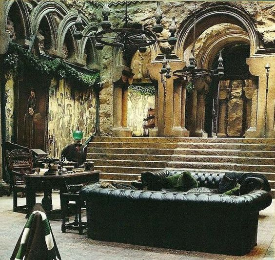Slytherin Dungeon Gothic Victorian Living Room