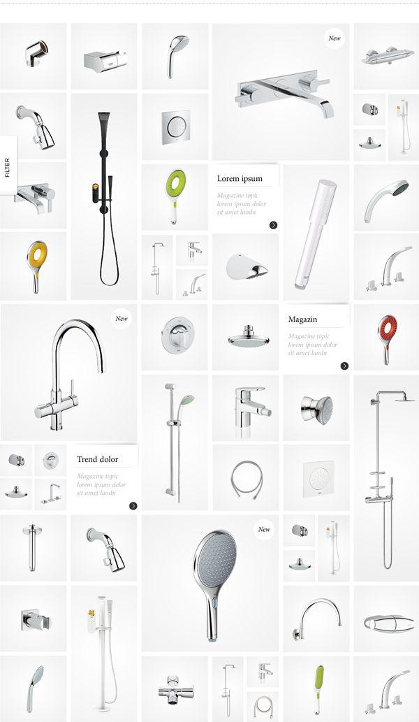 GROHE / Enjoy Water on Behance in Webdesign | Interface | Pinterest ...