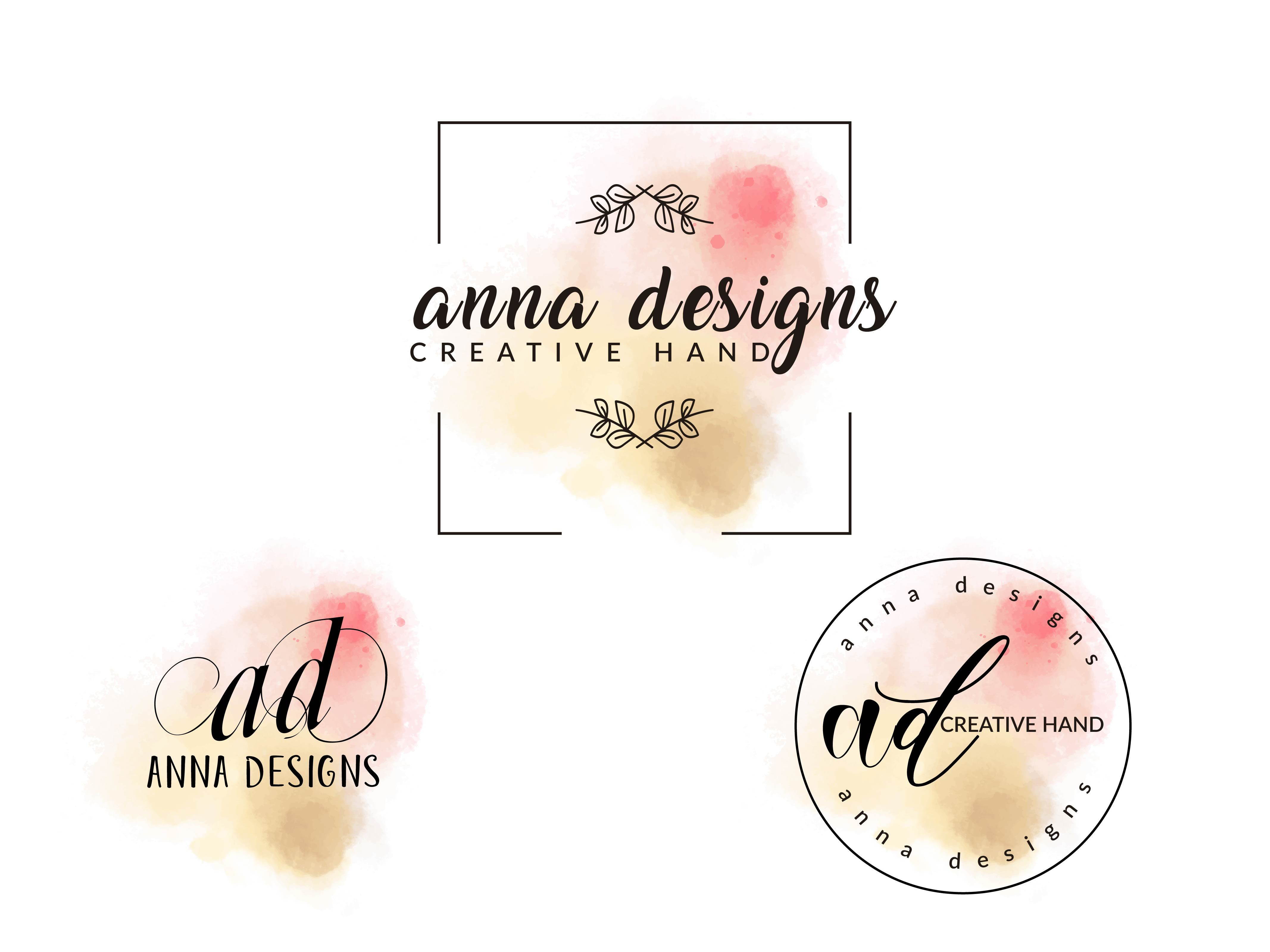 I Will Design Feminine Watercolor Logo With Free Source File With In 24 Hours Watercolor Logo Design Watercolor