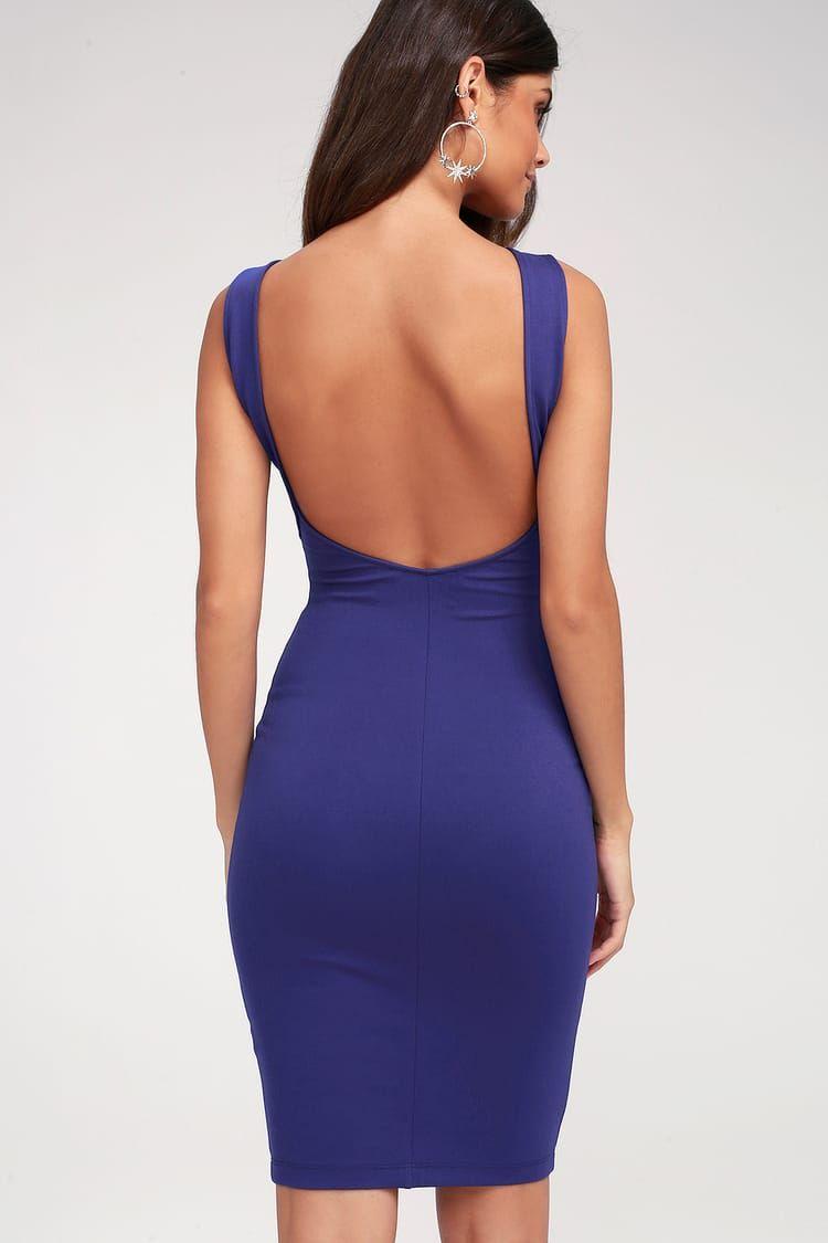 8ddfeb8d93e Lulus | Like a Lady Royal Blue Backless Midi Dress | Size Large in ...