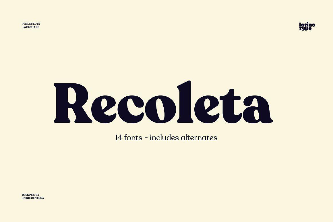 Recoleta Tendances Typographie Lettering Design Cv Creatif