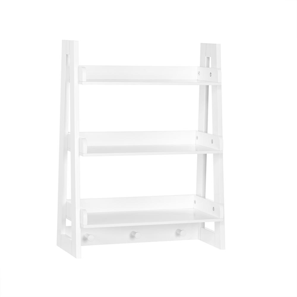 Riverridge Home Amery Collection 19 81 In W Wall Shelf With Hooks White 06 096 In 2020 Kids Wall Shelves Bathroom Shelf Decor Wall Shelf With Hooks