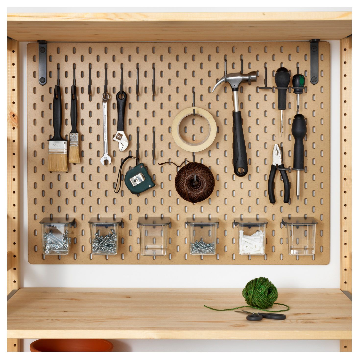 News You Can Use Ikea S Skadis Pegboards Now Available In Us The Organized Home Ikea Pegboard Peg Board Ikea Tools