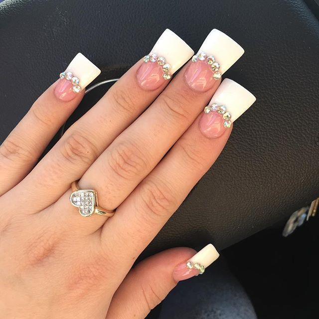 From Square To Flare Every Nail Shape You Need To Know Flare Nails Flare Acrylic Nails Wide Nails